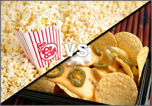 Chestii de rontait: Popcorn vs nachos