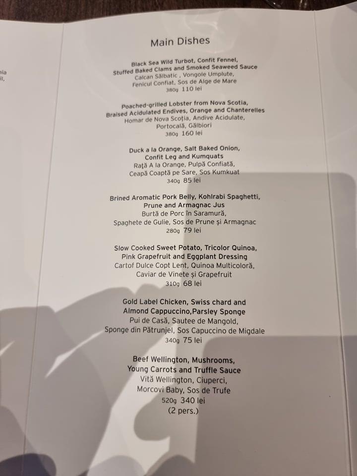 Restaurant Pastel din Cluj o stea Michelin Fel principal